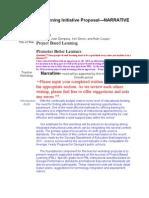 PBL Narrative Planning Draft