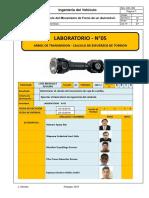 Lab 5- Ingeniería Del Vehículo - Árbol de Trasmisión