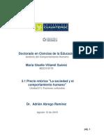María Giselle Villamil Suárez_ Actividad 3.1 Precis Retorica La Sociedad y El Comportamiento Humano