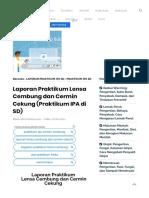 Laporan Praktikum Lensa Cembung Dan Cermin Cekung (Praktikum IPA Di SD) - Ilmiahku.com