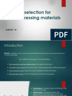 selection for dressing materials