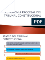 Autonomia Procesal Del Tribunal Constitucional