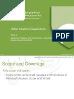 OSD Topic 4 - Excel