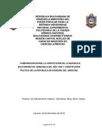 comparación de Constitución de Venezuela y de Hondura
