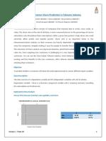 Predicting churn rate of Telecom company