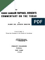 Tora - Shimshon Rafael Hirsch - Intro (Inglés)