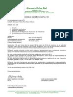 Consejo Academico Acta #001
