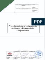Procedimiento de Investigación de Accidentes y Enfermedades Ocupacionales.