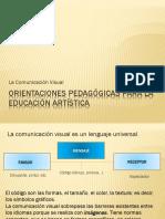 Orientaciones Pedagógicas Para La Educación Artística