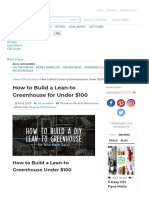 How to Build a Lean-to Greenhouse for Under $100