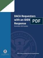 DACA Requestors IDENT Nov. 2019