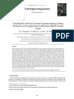 Classification of Precast Concrete Segme