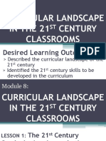 Curricular Landscape in the 21st Century Classrooms