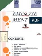 Employement (HRM) Ppt