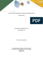 Fase 2 - Teorías de Aprendizaje Conductista, Aprendizaje Social y Cognoscitivista.