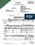Bartok - Sonata for Two Pianos and Percussion Perc Part