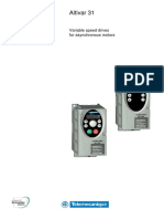 Variable Speed Drives Altivar 31 Programming Manual (English)