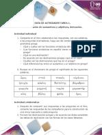 Actividades - Tarea 1 - Declinar sustantivos y adjetivos, derivación.