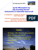 Studying the Mesosphere Short Ppt
