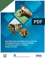 Intensificación Sostenible de Los Sistemas Ganaderos Frente Al Cambio Climático en América Latina y El Caribe Estado Del Arte.