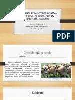 Leucoza Enzootică Bovină În Europa Și România În