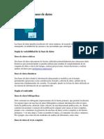 CLASIFICACIÓN BASE DE DATOS