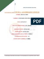 Informe Tecnico de la mepresa aglomerados Cotopaxi