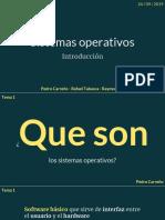 Sistemas Operativos - Introduccion (1)