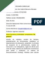 Resumen Curricular Gabriel