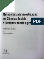 Investigacao Em Ciencias Sociais e Humanas