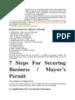 Mayors Permit
