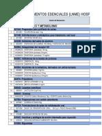 Listado de medicamentos utilizados en Hospital Puerto Lempira, Homduras