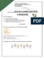 Avaliação Unificada Matemática 3º Bimestre