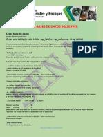 Taller de Sentencias Utiles en SQLServer