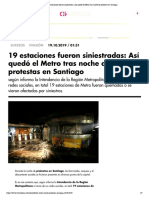 Metro Santiago 2019-10-19