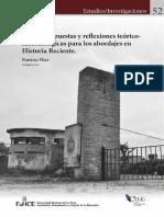 Dilemas, apuestas y reflexiones teóricometodológicas para los abordajes en Historia Reciente