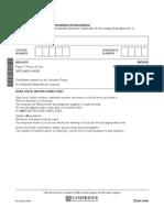 2018 Igcse Bio Paper 3