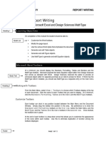 Tools for Report Writing