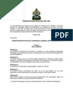 Constitución Política de la República Federal de Centroamérica de 1921