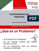Presentación 5. El Problema v1