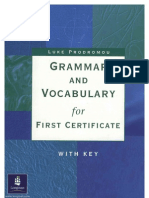 Grammar and Vocabulary for FCE Longman