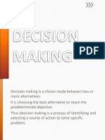 DECISION MAKING Presentation in Nursing Leadership and management