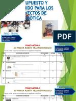 Presupuesto y Contenidos Para Los Proyectos de Robótica