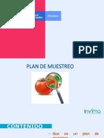 Plan de Muestreo 2019 Planta de alimentos