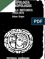 Kuper Antropología y Antropólogos