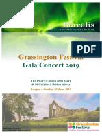 Borealis, Grassington Festival 2019 - Final Concert Programme, 23 June 2019