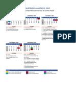 Calendario Academico_CENTRO NORTE_AEDU_Campo Grande 2019.2