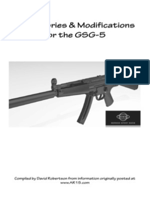 GSG-5 Accessories & Modifications | Screw | Trigger (Firearms)