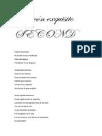 Rincón Exquisito - Second (letra)