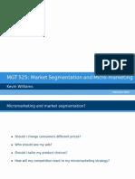Micro market segmenting notes